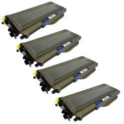 ארבעה טונרים תואמים Brother tn2120 עד 2,600 הדפסות לכל טונר בכיסוי 5% מהדף