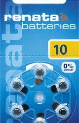 סוללות למכשירי שמיעה ZA 10 RENATA